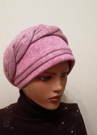 Красивая чалма шапка 56-58 роуз