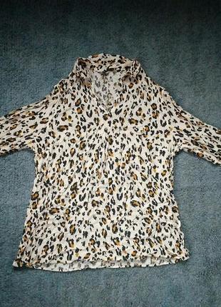 Шикарная леопардовая блуза