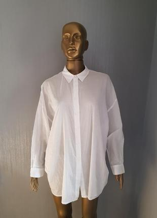 Хлопковая белая рубашка