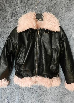 ✅ классная куртка дублёнка на меху демисезон
