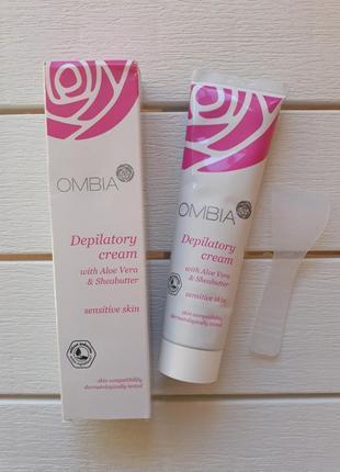 Крем для депиляции тела ombia, крем для чувствительной кожи, крем для депіляції