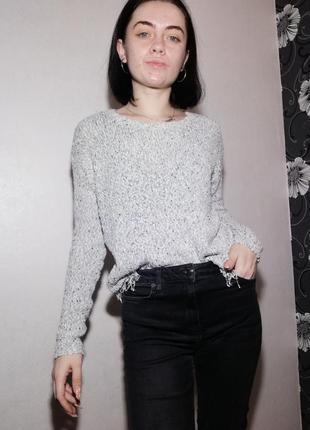 Вязаный свитерок с бахромой от new look