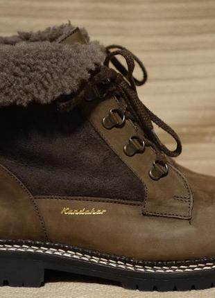 Теплющие комбинированные цигейковые ботинки kandahar швейцария 36 р.