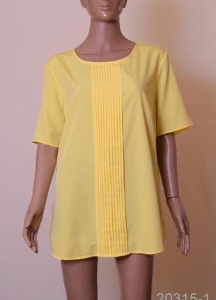 Блуза charles voegele размер 4xl желтая