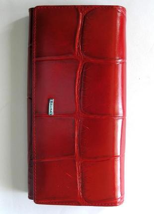 Большой кожаный кошелек крокодил, 100% натуральная кожа, есть доставка бесплатно