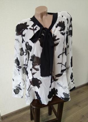Красивая блузка женская рубашка с рукавами в школу офис работу недорого распродажа
