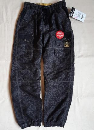 Черные непромокаемые спортивные штаны карго bkl wear германия на 8, 10 и 12 лет