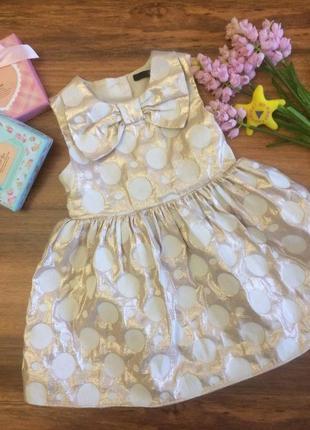 Коктельное нарядное платье,сарафан для модницы george 1,5-2 года