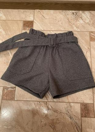 Шорты шерстяные женские, тёплые твидовые шорты, новые зимние женские шорты