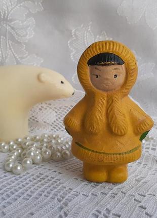 Северянка кукла резиновая в эмали винтаж копыченцы ссср советская