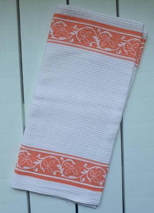 Вафельное кухонное полотенце с узором, ссср, для кухни, рушник кухонний 143х37