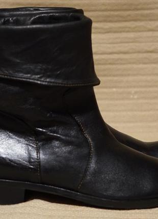 Благородные черные кожаные полусапожки-трансформеры globus италия 38 р.