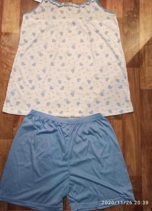 Комплект майка и шорты р.48