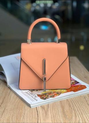 Красивая женская сумка конверт пудра