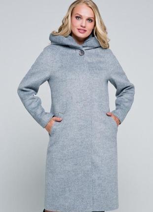164 утепленное пальто р-ры 42-56