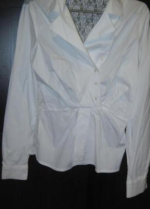 Рубашка блуза cinema donna турция стильная гипюровая спина 38 размер м