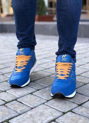 Мужские кроссовки синие зима