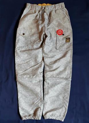 Серые непромокаемые спортивные штаны bkl wear германия на мальчиков 8,10 и 12 лет.
