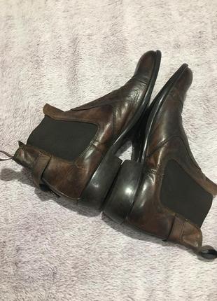 Мужские кожаные ботинки🤎ботинки деми унисэкс