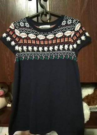 Платье на девочку 4-6 лет.