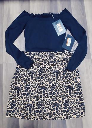 Новая юбка в леопардовый принт