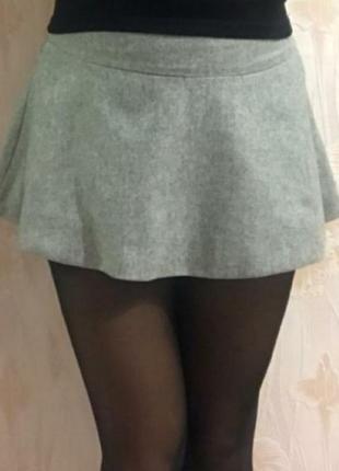 Расклешенная шерстяная юбка р.42-44