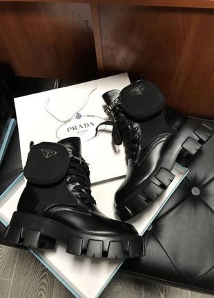 Prada monolith🆕 шикарные ботинки прада 🆕 купить наложенный платёж