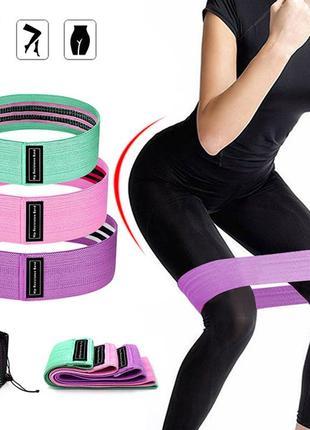 Новые! фитнес лента, фитнес резинки тканевые. 3 шт (комплект!)