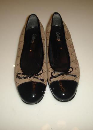 Gabor кожаные туфли, р 38-39 (6 uk) , стелька 25,2 см (идеально на 38,5)