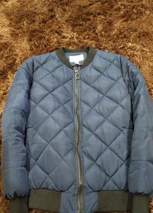 Утеплённая дутая куртка в ромб