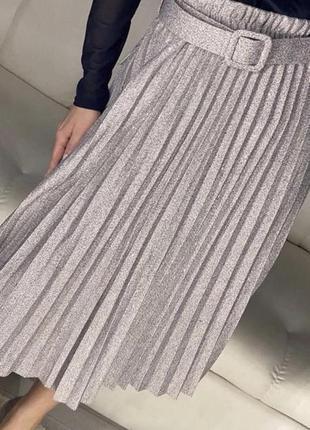 Турецкая серебристая юбка