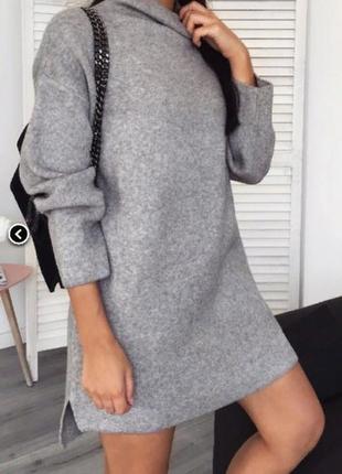 Утепленное платье-туника