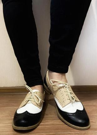 Туфли лоферы на шнурках1 фото