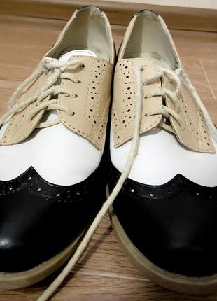 Туфли лоферы на шнурках4 фото