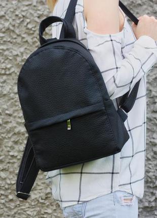 Черный городской рюкзак, ручная работа.