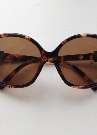 Коричневые леопардовые очки в идеальном состоянии!