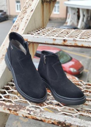 Женские зимние замшевые ботинки 87792