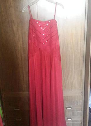 Бордовое платье для любого праздника!