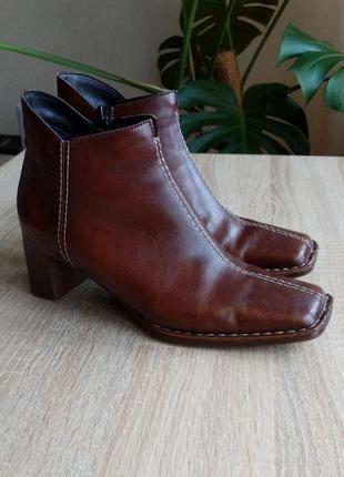Винтажные ботинки с квадратным носком, квадратный каблук, ботильоны, челси