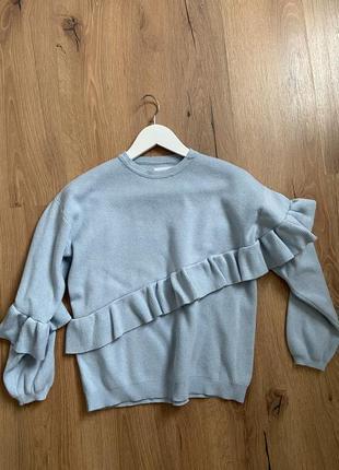 Голубой женский свитер, zara