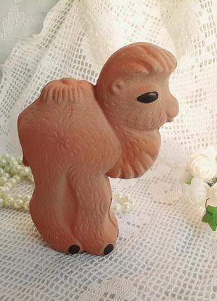Верблюд резиновая игрушка ссср пищалка винтаж в эмали копыченцы советская