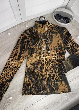 Свитер гольф водолазка леопардовый принт коричневый blumarine блюмарин италия italy1 фото