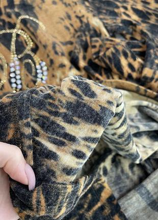 Свитер гольф водолазка леопардовый принт коричневый blumarine блюмарин италия italy3 фото