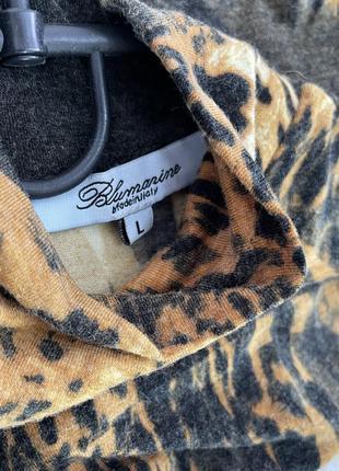 Свитер гольф водолазка леопардовый принт коричневый blumarine блюмарин италия italy4 фото