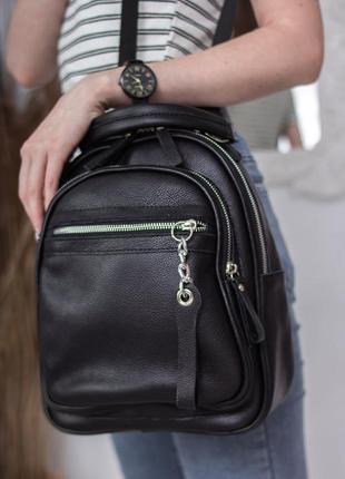 Кожаный женский рюкзак сумка 2в1, в разных расцветках!