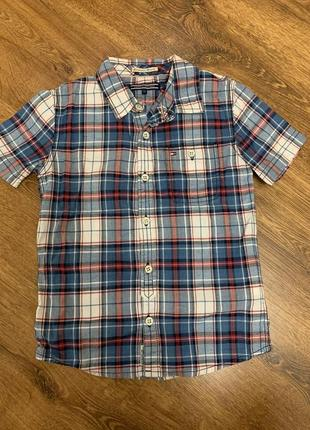 1+1=3 рубашка в клетку tommy hilfiger, 116