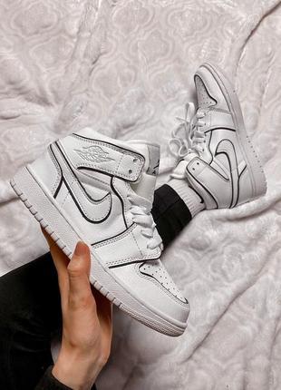 Nike air jordan 1 retro high white reflective