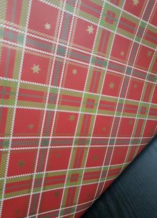Упаковочная бумага для подарков в рулонах красный свитер