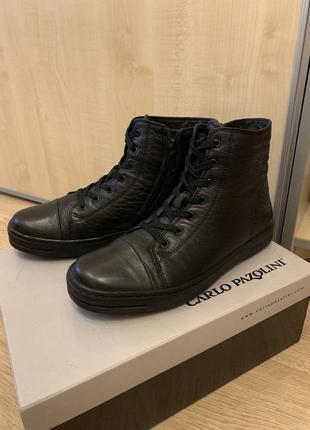 Зимние кожаные ботинки carlo pazolini на натуральном меху