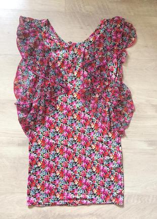 Супер платье в цветочный принт с открытой спиной